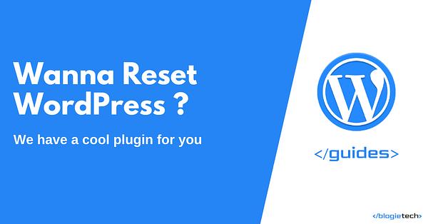 Reset WordPress to Default