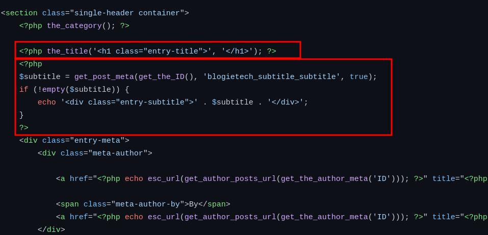 Add Subtitle To WordPress Post -Without Plugin